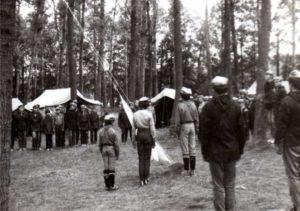 Mazury, Sucholaski 1986 Letni obóz Hufców Łomianki i Tarczyn