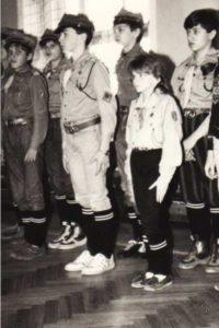 Patrole Drużyny Łączności z Tarczyna podczas zawodów Stołecznego Inspektoratu Obrony Cywilnej, Warszawa 1988r.